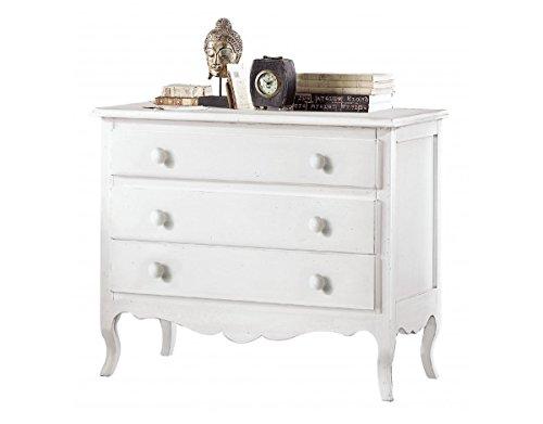 Legno Bianco Vintage : Vintage home como in legno laccato bianco h