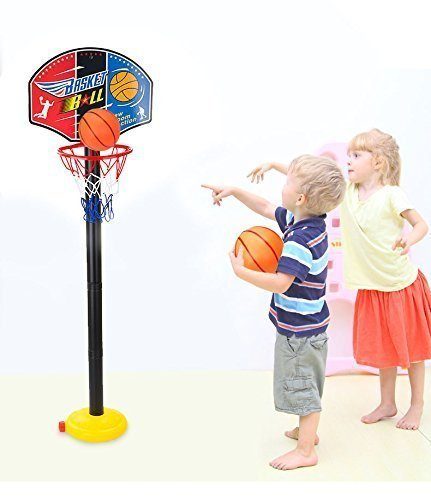 Garden Mile� Indoor Or Outdoor Adjustable Free Standing Basketball Netball Hoop Basketball Stand Mini Basketball Board For Office/Pub Game Children Kids Ball Game