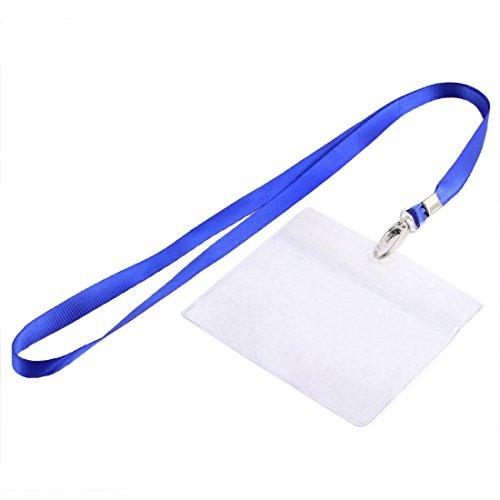 Nylon correa de cuello de la cuerda de seguridad horizontal ID Badge titular de la tarjeta de 94mm x 60mm