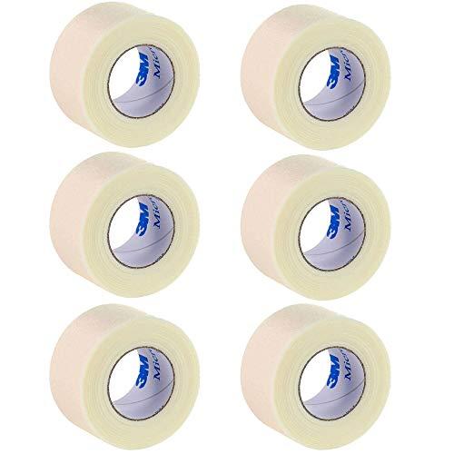 3M Micropore Medizinisches Klebeband, hypoallergen, weiß, 2,5cm x 9,1m, 6Stück -