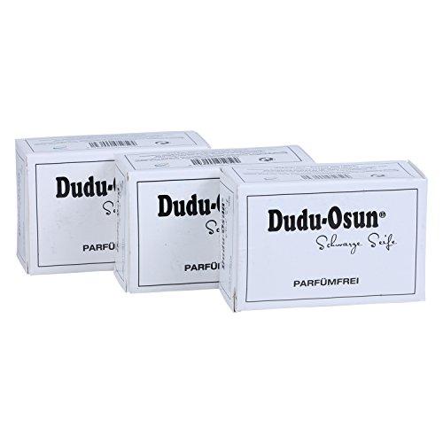 Dudu-Osun Pure (parfümfrei) - Schwarze Seife aus Afrika (3 x 150 g) -