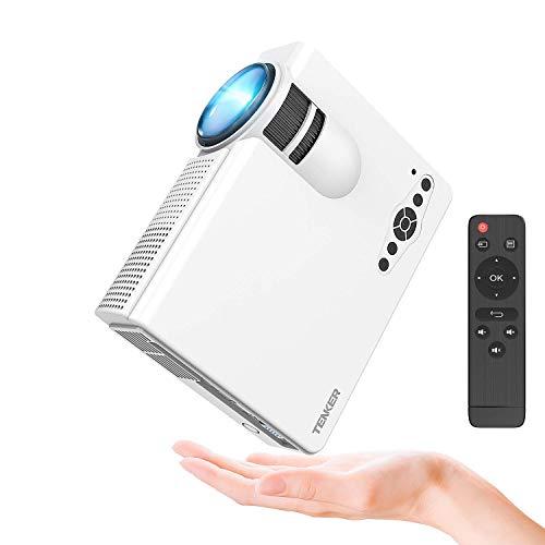 Proiettore, Mini Videoproiettore TENKER Q5 2200 Lumens proiettore portatile Full HD Supporto 1080P LED HDMI/TF/USB/VGA/AV per iPhone Smartphone per smartphone TV Xbox PC