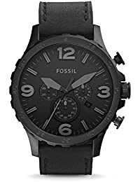 Fossil Nate Analog Black Dial Unisex Watch - JR1354