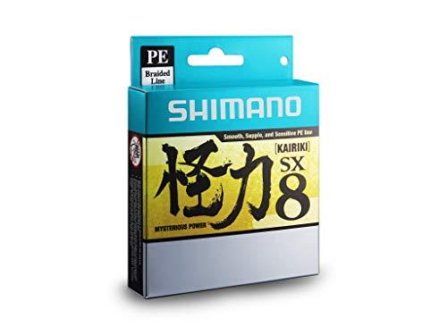 SHIMANO Kairiki 8, 300 Meter, Gelb, 0.160mm/10.3kg, 8fach Geflochtene Angelschnur, 59WPLA68R33
