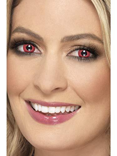 Electro Kostüm - Halloweenia - Damen Herren Kontaktlinsen Party Linsen Psycho Electro, Kostüm Accessoires Zubehör, perfekt für Halloween Karneval und Fasching, Rot