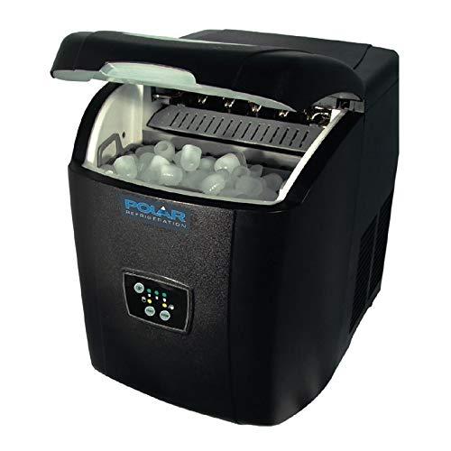 Polar Counter Top Ice Maker 10 kg Output 380 x 305 x 380 mm, Schwarz