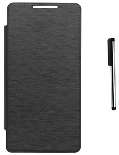 Tidel Black Durable Premium Flip Cover Case For Micromax Canvas Doodle 4 Q391 With Stylus Touch Pen  available at amazon for Rs.179