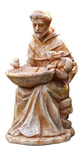 Napco 18062sitzend St. Francis mit Tiere und Futterhaus Garten Statue, 29,2cm