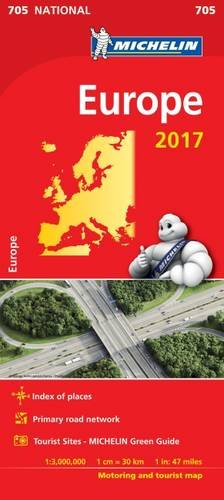 Europe 2017 National Map 705 (Michelin National Maps) por Michelin
