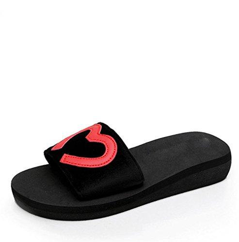pengwei¨¦t¨¦, bande ¨¦lastique, chaussons, gateau au pin, solides ¨¦paisses Sandales femme poe et pantoufles de plage 1