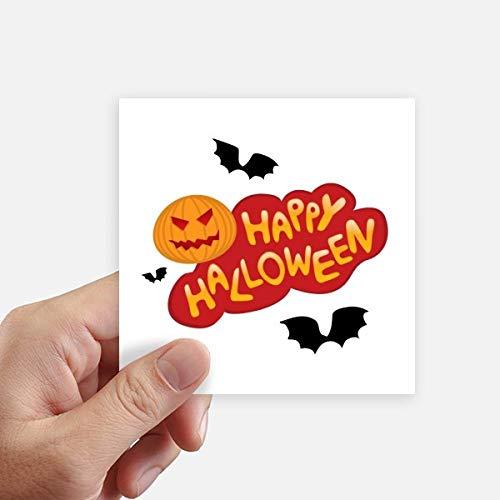 DIYthinker Cartoon Halloween Schriftarten Quadrataufkleber 10Cm Wand Koffer Laptop Motobike Aufkleber 8Pcs 10cm x 10cm Mehrfarbig