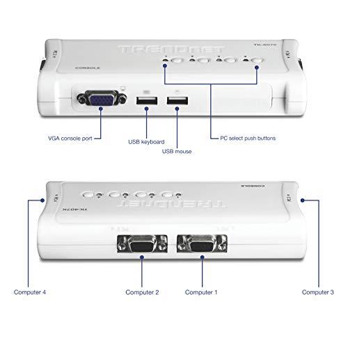 TRENDnet TK-407K, Kit Switch KVM a 4 porte USB