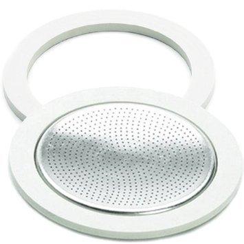 Bialetti Brikka alluminio Parti di ricambio la guarnizione e il filtro impostato, 2 tazza