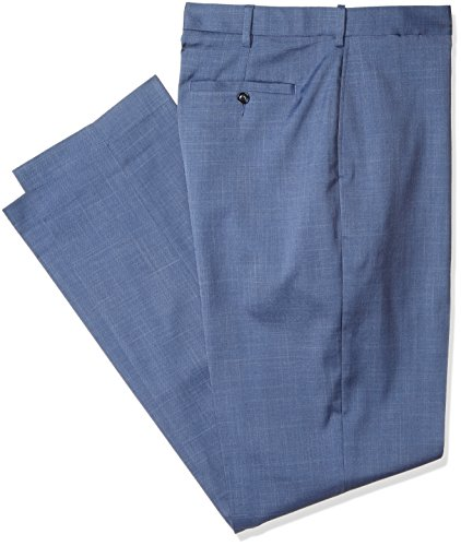 Savane Herren Men's Big and Tall FF Stretch Crosshatch Dress Pant Anzughose, Vintage Indigo, 48W / 30L Big And Tall Mens Dress Hose