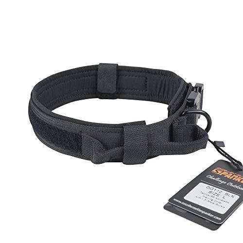 SPANKER Hervorragende Elite Spanking Tactical Training Einstellbare Hundehalsband mit Griff und Quick Release Metall Schnalle -