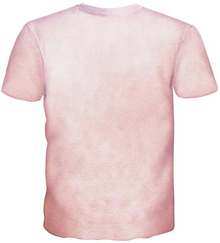 Pizoff Unisex Sommer Leicht Bunt Bequem Cool Digital Print Schmale Passform T Shirts mit Bunt 3D Muster Y1730-L8