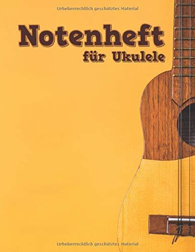 Notenheft für Ukulele: TAB und Akkorde - 108 Seiten