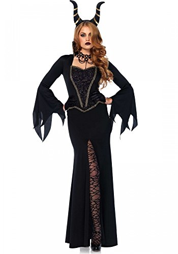 Lila Dunkle Fee Kostüm - Evil Enchantress Damen Kostüm Leg Avenue