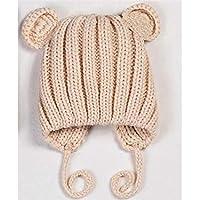 SUPRERHOUNG Lovely Ears Style Keep Warm Knitting Hat Earmuffs Sleeve Cap para bebés niños (Color : Creamy, tamaño : 40-48cm)