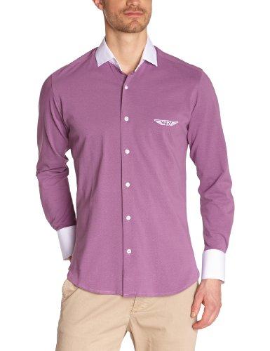 Fernand Bachmann Herren Business Hemden  ,Uni Violett (Parme)