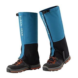 Amasawa Gamaschen,Unisex Im Freien Gamaschen,Bergsteigen Sandwüste Schuhe, Ski wasserdichte Leggings 1 Paar(Blau) (L)