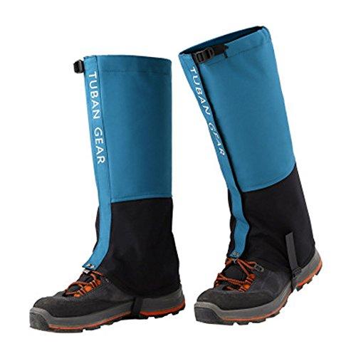 Amasawa Ghette,Ghette da Trekking Velcro in Tessuto Impermeabile e Traspirante,per Alpinismo attività all'aperto Escursionismo Camminate arrampicate Neve(Azzurro). (L)