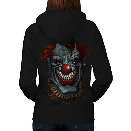 Creepy Horror Clown Scary Women M Kapuzenpullover Zurück | Wellcoda