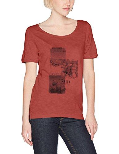 s.Oliver Damen T-Shirt 14704323804, Rot (Tandoori Red Place Print 38E1), 40