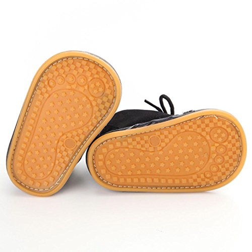 Ouneed® Krabbelschuhe , 0-18 Monate Baby Kleinkind Säuglings Schnee Stiefel Schuhe Gummisohle Prewalker Krippe Schuhe Schwarz
