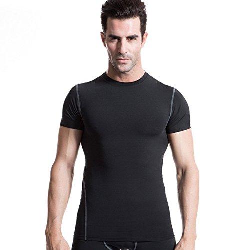 Body Shaper Per Uomo dimagrante maglietta gilet Peso perdita supporto a compressione da uomo maglietta, Black, UK M(Tag L)