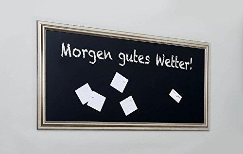 Lightclub-Shop.de Pinnwand Memoboard Magnettafel 120x60 cm Tafelsilber Rahmen Silber Tafelfolie...