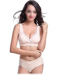 TOOGOO(R)Women's maternity Nursing Bra For Nursing Mothers Underwear Bra beige XXL