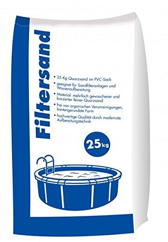 Hamann Filtersand 0,7-1,25 mm 25 kg für Sandfilteranlagen & Poolfilter - frei von Verunreinigungen, insbesondere von Stoffen organischen Ursprungs