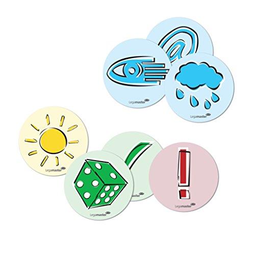 Legamaster Legamaster Moderationskarten Emoticons, Durchmesser: 9,5 cm, sortiert, 250 Stk