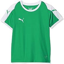 Puma Liga Jersey T-Shirt, Unisex niños, Pepper Green/White, ...