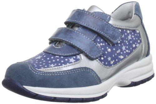 Bubblegummers Cotton Trainer, Chaussure de sport fille Bleu - Blue/Silver