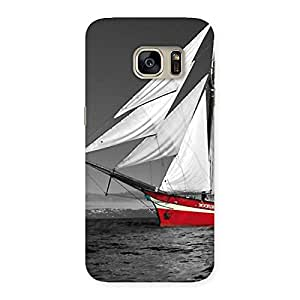 Enticing Vintage Ship Multicolor Back Case Cover for Galaxy S7