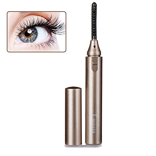 Beheizbare Wimpernzange, Wimpernzange, Eyelash Curler, Portable Aufheizbare Wimpernzange Für Wunderbar Geschwungene Makeup Wimpern (Gold)
