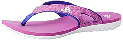adidas Women's Calo 5 W Pink, White and Blue Flip-Flops and House Slippers - 8 UK