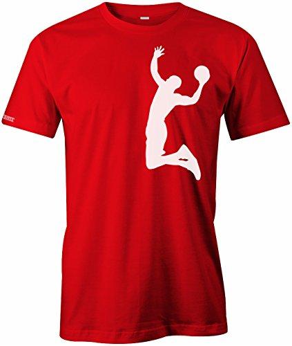 Basketball Dunk - Sport Hobby - WEISS - HERREN - T-SHIRT in Rot by Jayess Gr. XXXL (Weiße Jordans Und Rote)