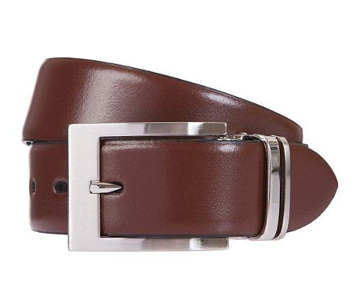 LLOYD Men's Belts Gürtel Herrengürtel Ledergürtel Braun/Brandy 6833, Farbe:Braun, Länge:120