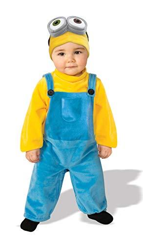 fad7626ef834 Rubie's Costume Co Baby Boys' Minion Bob Romper Costume, Yellow, 1-2