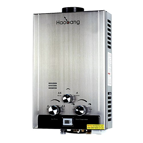 Haobang Gas tankless Warmwasserbereiter Patentierte Modulating Technologie JSD12-S01 LPG 2800Pa- Propan oder Butan (Durchlauferhitzer Boiler)
