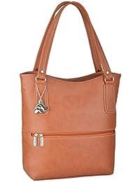Fostelo Women's Sarah Shoulder Bag (Tan) (FSB-871)