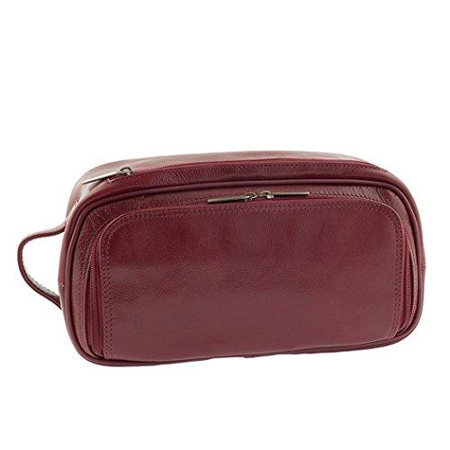 Pellevera Alesso sac de Voyage italienne en cuir bagage à main (rouge) 2zxRxm1