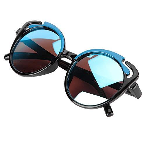Baby polarisierte Sonnenbrille Weiche Silica Gel Sonnenbrille UV-Schutz für Kleinkinder Flexible Baby Vintage Brille(Schwarz C1)