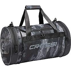 Cressi Rantau Bag Sac de Sport Cylindrique/Pliable Adulte Unisexe, Camou, 55x30x30