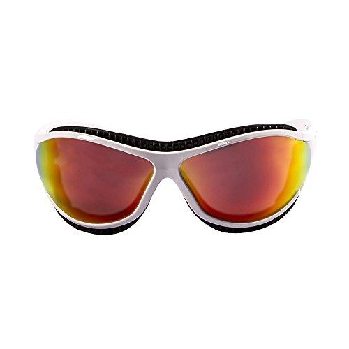 OCEAN SUNGLASSES - tierra de fuego - lunettes de soleil polarisÃBlackrolles  - Monture : Blanc Mat - Verres : Revo Jaune (12201.3)