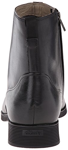 Clarks Gabwell Zip-Boot Black Leather