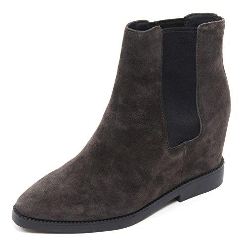B5964 tronchetto donna ASH GONG scarpa zeppa grigio scuro boot shoe woman Grigio scuro